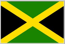 Jamaica's National Flag - symbolizing our hardship (black), the fruitfulness of the land (green) and our beautiful sunshine (yellow).