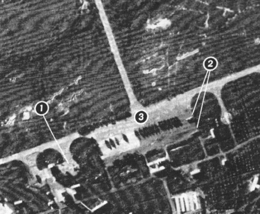 #1 are Russian IL-28 aircraft that can deliver nuclear bombs, #2,3 are 18 IL-28s in crates waiting to be assembled