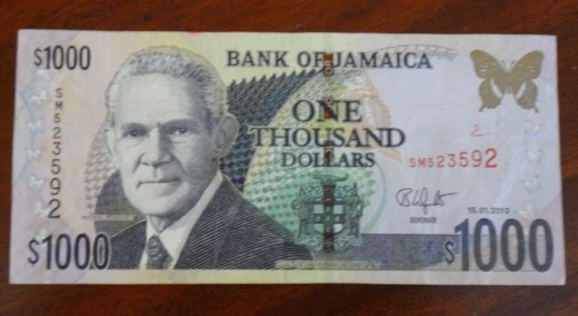 our one thousand dollar note