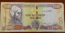 our five hundred dollar note