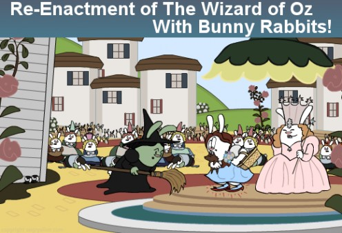 A fantastic re-enactment of famous movies with bunnies all in 30 seconds.