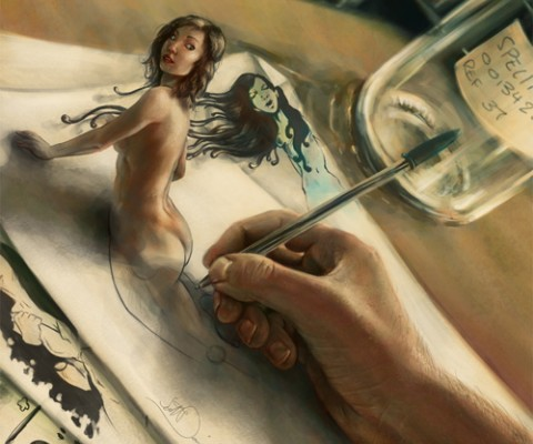 Painting by Scott Davidson