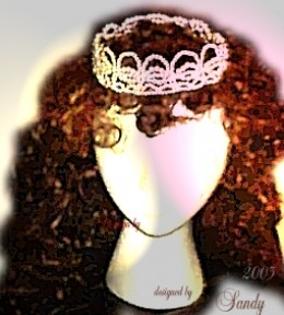 Full Wedding Crown by ladybluewriter the fashion designer of wedding accessories.  designing under the name 4eversandy
