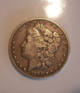 Front of the Morgan Silver Dollar