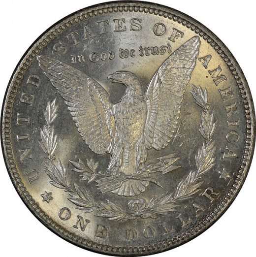 The reverse of the Morgan Silver Dollar