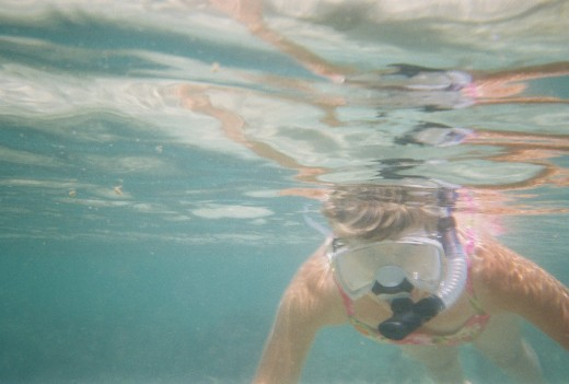 Me snorkeling for the first time.
