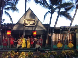 Opening show at a luau