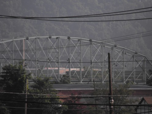 The Charleroi-Monessen bridge in its last moments.