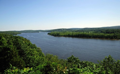 The view of the Connecticut River from Gillette Castle