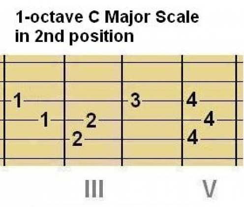 Above: Chord Shape #1 and Scale Shape #1