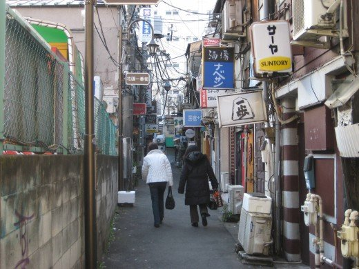Golden Gai - a popular area for drinking