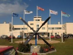 Propeller memorial outside Shoreham Airport.