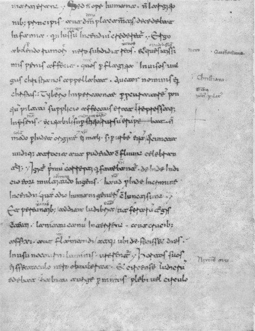 Annals (text copied by a monk in the 11th century)