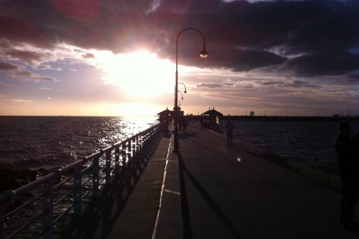 St Kilda Pier sunset. Photo taken by me.