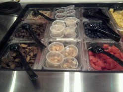 Fresh fruits and toppings