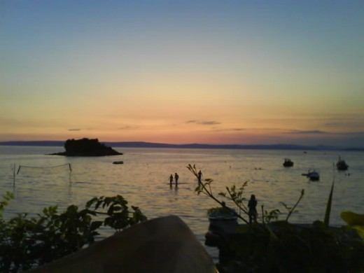 Insel Rab, Croatia - We stayed until nighttime in the restaurant. The delicious food, the perfect sunset panorama was unforgetable.