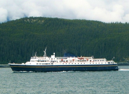 Ferries take you through Alaska's spectacular coastal scenery.