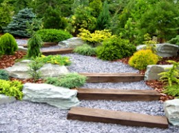 Guide to using timber railway sleepers in the garden for Garden design using railway sleepers