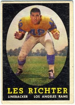1958 Topps Baseball Card of  Les Richter