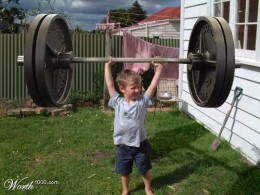 This kid is stronger than I was.