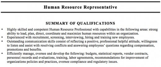 Summary Qualifications Examples For Resume Examples Qualifications Resume  Best Free Professional Examples Qualifications Resume Sample Statement  Statement Of Qualifications Sample
