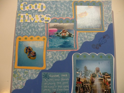Scrapbook Layout made with a Cricut Machine