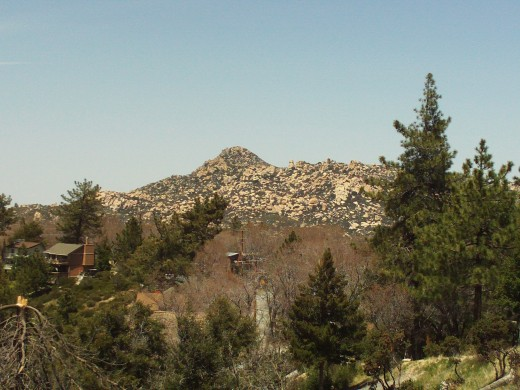 The Pinnacles are covered with boulders, as can be seen in this photograph.