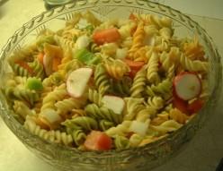Vegetable Rotini Pasta Salad With Garlic Recipe