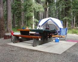 A Manning Park campsite
