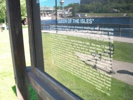 Historical panel for the 'Queen of the Isles' display, Bracebridge