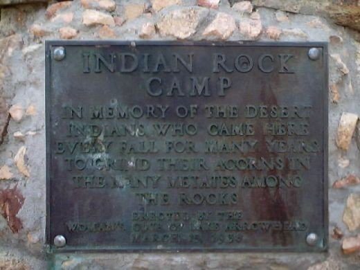Go walking on the Indian Rock Trail and see this plaque at the Indian Rock Camp.