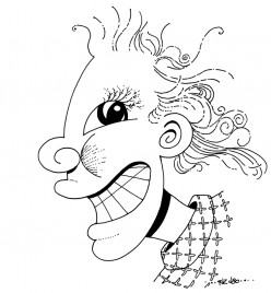 Smiley (with the Feathery Eyelashes)