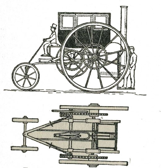 Trevithick's Steam Carriage, 1802