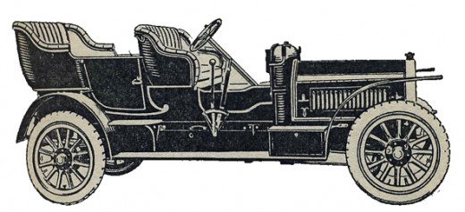 Tourist Trophy Winner, 1907: the 16/20 h.p four cylinder Rover