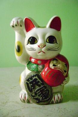 Maneki Neko with Daruma Doll