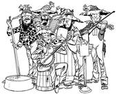 IN EARLY RURAL AMERICA, NOTHING WOULD BEAT A BAND OF RURAL MUSICIANS WHO WERE SELF-TAUGHT AND ENTERTAINED THER FRIENDS.