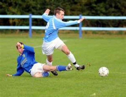 An excellent sliding tackle in the middle of the park.