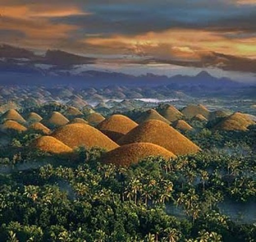 A feature that strikes the famed Chocolate Hills is the absence of trees. This contributes to the picture of the hills as big 'Kisses' Chocolates. These coned mounds are simply unbelievable and breathtakingly beautiful.