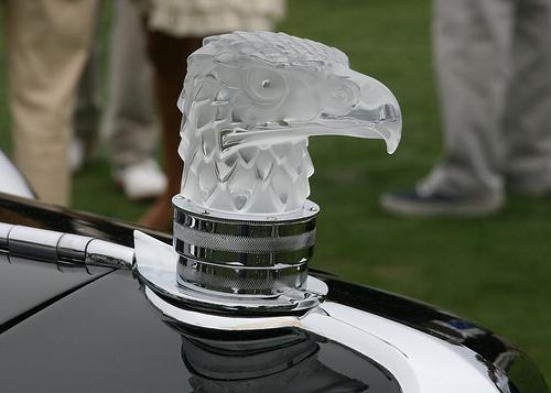 Lalique Art Glass Eagle Hood Ornament