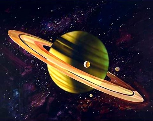 The rings of the Saturn