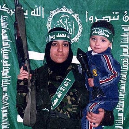woman and child terrorists