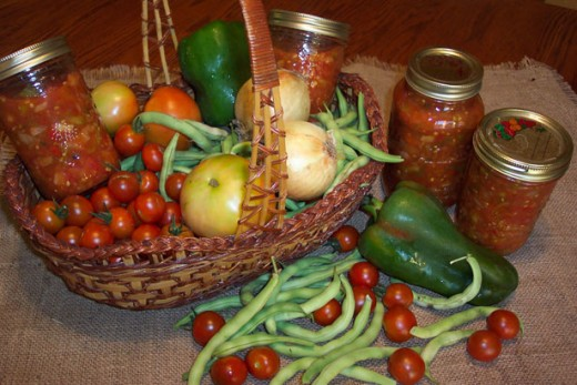 Instead of canned veggies you can also substitute fresh ingredients from your home garden.