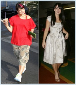 "Singer Lily Allen went from size 12 to size eight after    hypnotherapy. ""After the hypnotism, I want to go to the    gym every day, otherwise I feel really bad.   I just want to get more toned and healthy.   I'm really good about everything at the m"