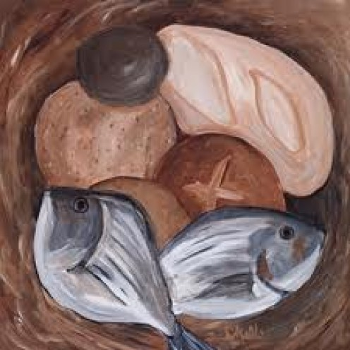 """Loaves And Fishes"" by Chelle Fazal"