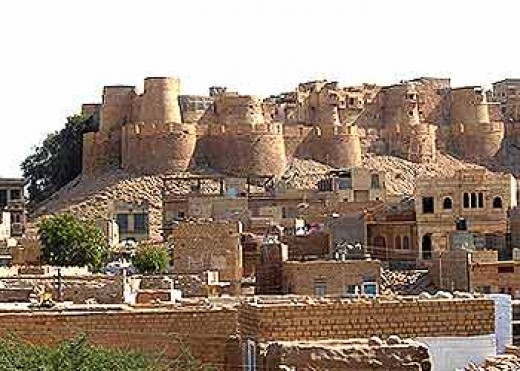 Golden Fort at Jaisalmer - the Golden City of India