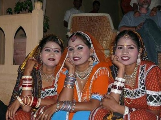 Rajasthani Women in beautiful traditional costume looking so gorgeous