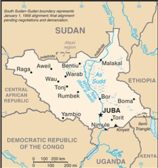 SOUTH SUDAN, Capital Juba