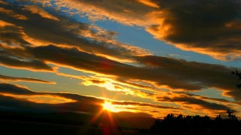 Beautiful Sunset looking NNW from Balado