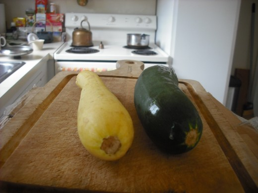 Summer squash in two varieties.