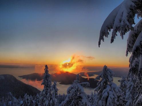 Swirling Mountain Sunset